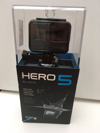 Gopro Hero 5 black + tarjeta 64 gb + 3 baterias