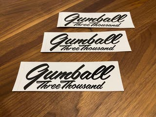 Pack 3 pegatinas Gumball 3000