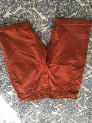 Pantalón corto/ bermuda naranja hombre