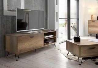 Mueble TV nuevo madera chapada kansas 150cm