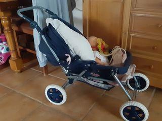 carrito bebé gemelar juguete