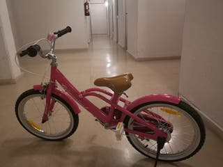 Bicicleta vintage rosa 18'
