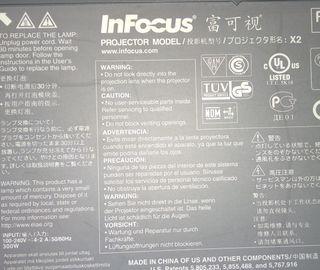 proyector infocus X2 con mando