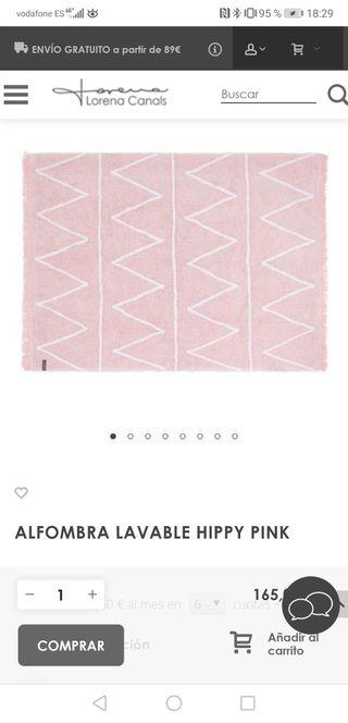 alfombra lavable infantil rosa Lorena canals