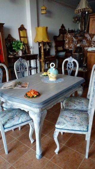 Mesa y 6sillas vintage