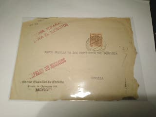 Frontal de carta de la Guerra Civil