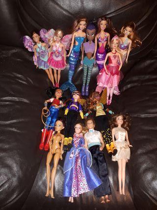 Lote conjunto muñecas barbie