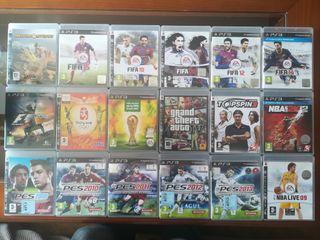 Lote 17 Juegos PS3
