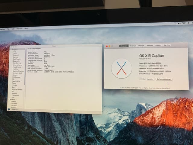 "Apple IMac 21.5"" año 2009"