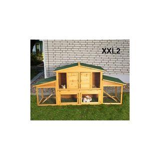 jaula madera jardin gallinas conejos