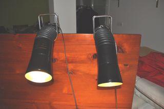 Lámparas flexo vintage con pinza 1970