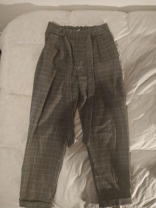 Pantalón de traje a cuadros