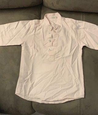 Camisa niño cuello mao