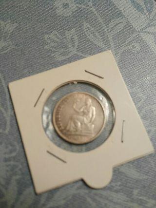 Moneda de una peseta de plata 1933