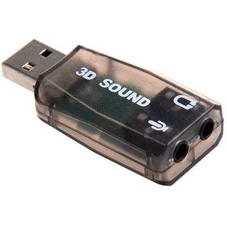 Adaptador de tarjeta de sonido de audio USB 3D 5.1