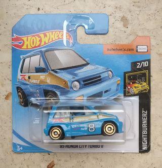 Hot Wheels '85 Honda City Turbo II Azul HW speed