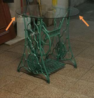 Mesa de fundición máquina de coser Singer
