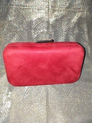 chullo!! clutch bolso de fiesta rojo nuevo
