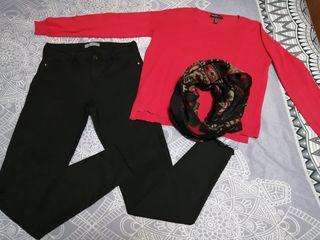 look rojo/negro