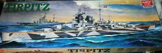 maqueta barco tirpitz navegable 1/350 motor 70cm