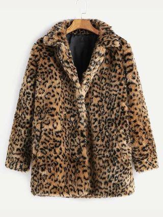 Abrigo leopardo animal print nuevo sin estrenar