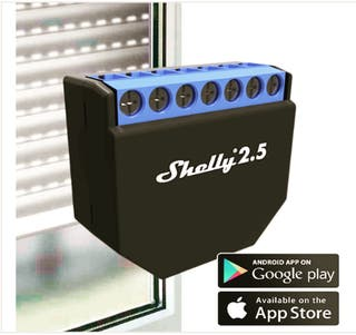Shelly 2.5 para persianas con homekit