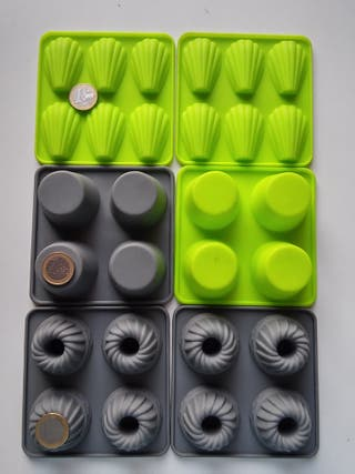 6 moldes silicona