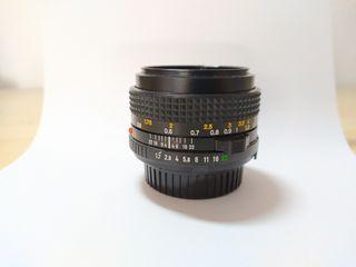 Objetivo Lente Minolta 50mm f1.7