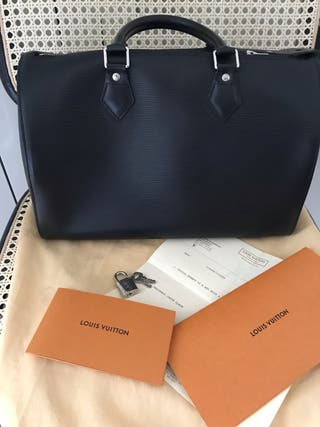 Louis Vuitton Speedy 30 cuir épi negro