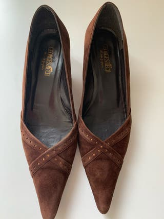 Zapatos piel vuelta marrones