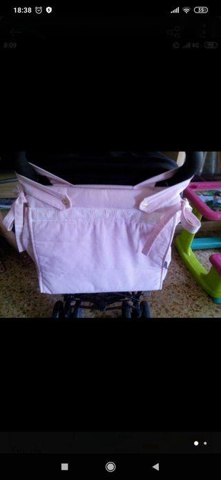bolso rosa carro