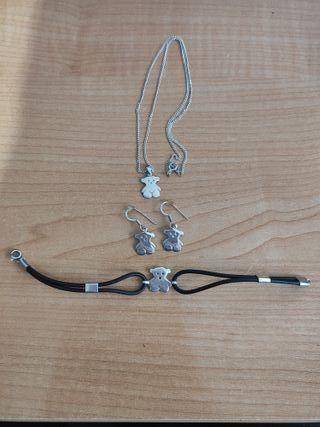 Conjunto de joyas de plata de Tous