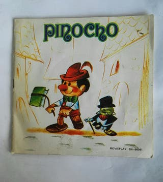 Pinocho disco + cuento movieplay 1972