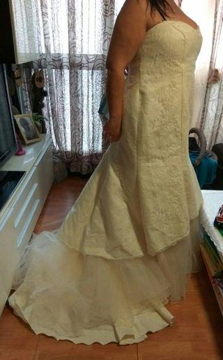 vestido de novia,ver sin compromiso y probar.