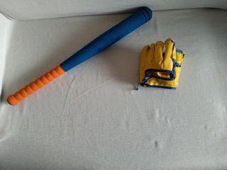 bate de béisbol, pelota y guante