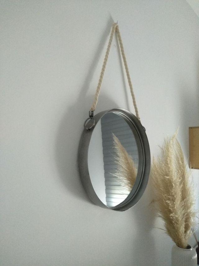 Espejo redondo de pared