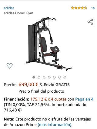máquina gimnasio musculación adidas