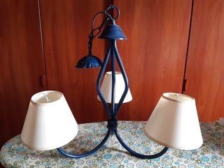 lámpara de techo+lámpara mesa de noche
