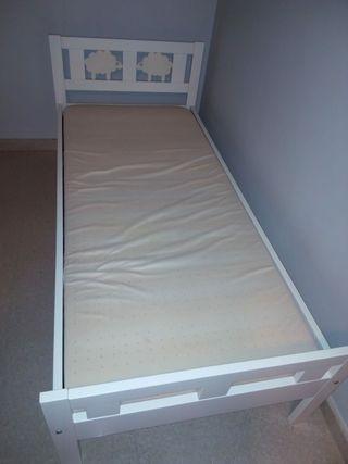 Cama Kritter con somier y colchón