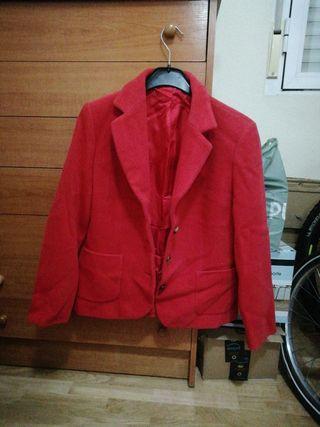 chaqueta de vestir roja mujer