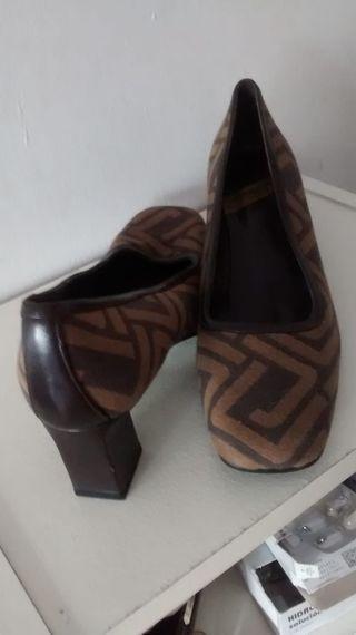 zapatos de piel punta cuadrada