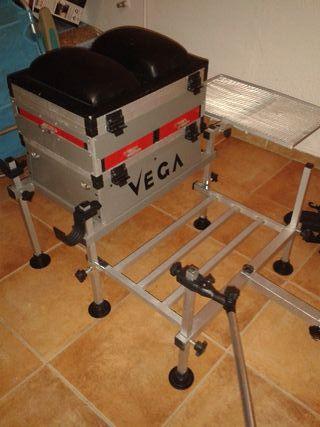 Panier de pesca Vega + accesorios como nuevo!!