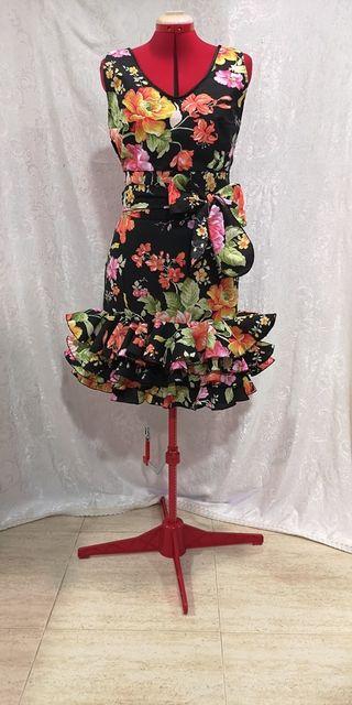 Falda flamenca corta talla 42