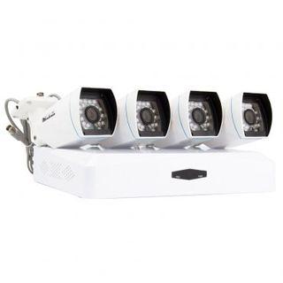 KIT 4 CÁMARAS SEGURIDAD CCTV Bullet AHD & Grabador