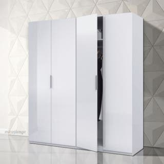 Armario dormitorio grande 4 puertas 200x180 cm