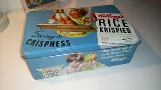 Caja para galletas Kelloggs estilo Vintage