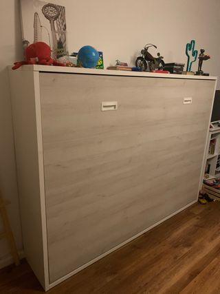 Mueble cama doble abatible (matrimonio)