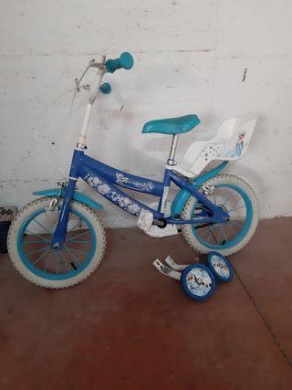 Bicicleta de Frozen para niña