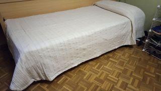 2 colchas color crudo para camas de 90 x 190