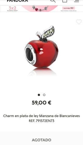 charm pandora manzana blancanieves